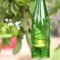 Windlicht grüne Flaschen